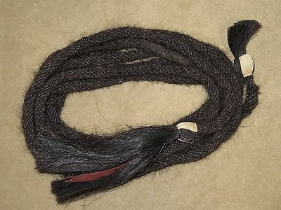 L@@K~Fantastic Quality Black 32oz MANE HAIR Western MECATE w/WOVEN BUTTONS~WOW!!