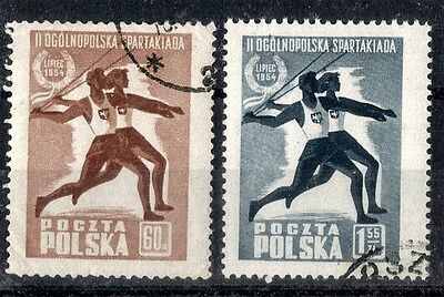 Poland.  1954.   Second Spartacist Games.  SG869-870.    Used.