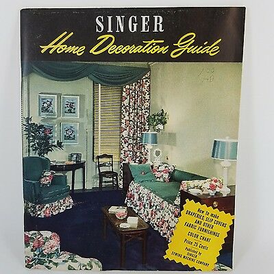 Vintage 1947 SINGER Sewing Machine Home Decoration Guide Instructions patterns