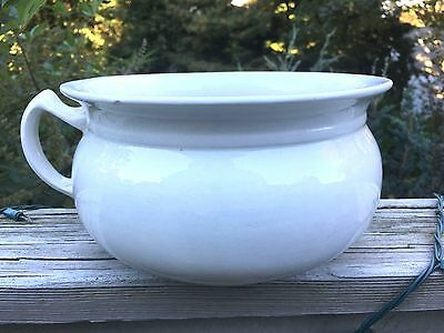 Vintage ~ Chamber Pot ~  Made In England ~ Ironstone ~ China ~ Lovely shape