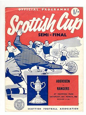 Aberdeen v Rangers 1965 - 1966  Scottish Cup semi-final