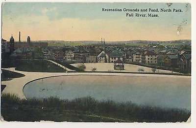 Vintage Postcard - Recreation Grnds & Pond Nth Park Fall River Ms- Unposted 2062