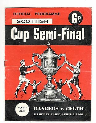 Rangers v Celtic 1959 - 1960  Scottish Cup semi-final