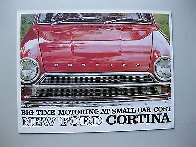 Ford Cortina 220 240 440 GT prestige Prospekt brochure English tx 1965 Australia
