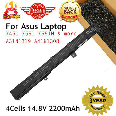 Battery For Asus X551M Series A31N1319 A41N1308 X45Li9C 14.4V 4Cell