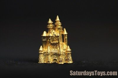 1960's Early Disneyland Gold Pin Sleeping Beauty Castle Walt Disney Productions