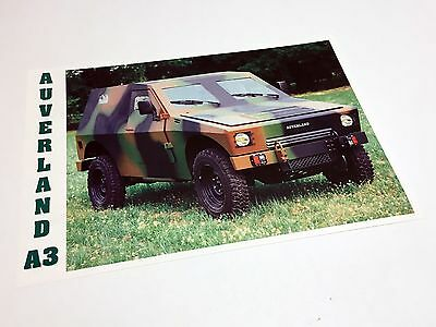 2000 Auverland A3 SL Armoured Level 3 Information Sheet Brochure - French