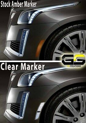 2014 2015 2016 2017 Cadillac CTS CLEAR Side Markers  / Sidemarker