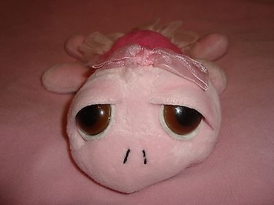 "Russ Peepers Pink Turtle with tutu Swirly 8"" long"