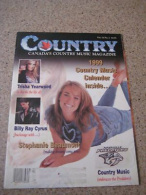 Canada's Country Music Magazine 1999 Trisha Yearwood Billy Ray Cyrus Stephanie B