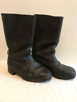 WW2 German Leather  Officers Jackboots Marching w/hobnails and heel irons. Orig.