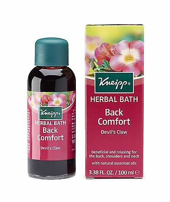 Kneipp Herbal Bath Back Comfort Devils Claw Natural Essential Oil 100ml
