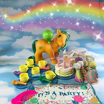 G1 Vintage My Little Pony European TUTTI FRUTTI With Birthday Party Playset