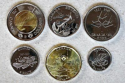 *NEW*CANADA / KANADA_2017_circulation coin set lose_150th Anniversary_6 Münzen