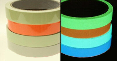 Glow in the Dark Luminous Tape. Removable and Waterproof - Green Blue or Aqua