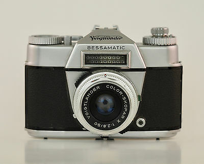 Voigtlander Bessamatic Camera - 50mm F2.8 Color Skopar - DKL Mount - Micro 4/3