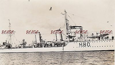 """Royal Navy Real Photo. HMS """"Brazen"""" Destroyer. Midsection! Plymouth Sound.  1931"""