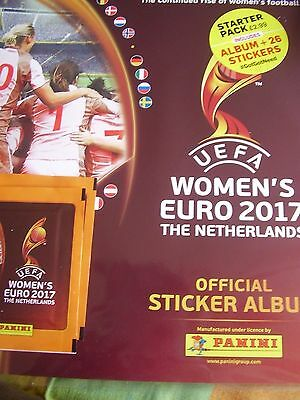 Panini Uefa Football Sticker Album 2017 Women's Euro The Netherlands Unused