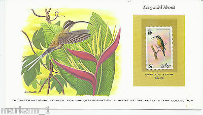 Long-tailed Hermit Hummingbird on Mint stamp from BELIZE