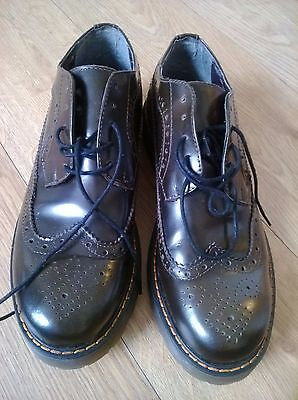 Womens flat  lace up brown brogues size eur 40  uk7