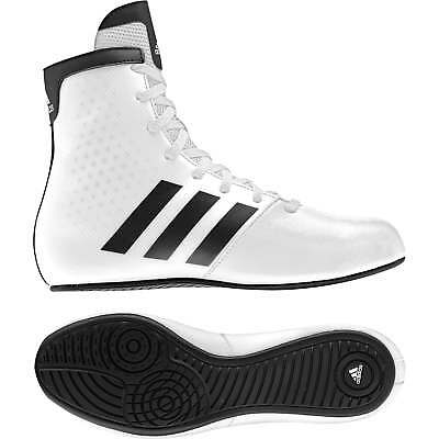 Adidas kids KO Legend Boxing Boots - White Black Shoes Trainers Boys