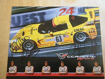 2003 #63 CORVETTE RACING  HERO CARD 8.5 x 11 HAND SIGNED BY 4 DRIVERS RARE CARD