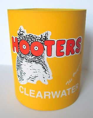 Hooters Can Koozie Coozie Insulated Holder Clearwater Florida