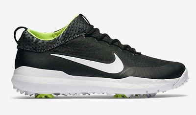 NEW Nike Men's FI Premiere Golf Shoes (835421-002) Black White Volt TW spikes