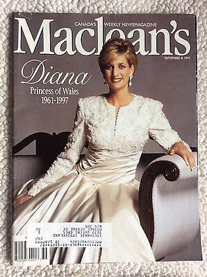 PRINCESS DIANA OF WALES-SEPT 1997 Maclean's Magazine-The World Mourns Her Death.