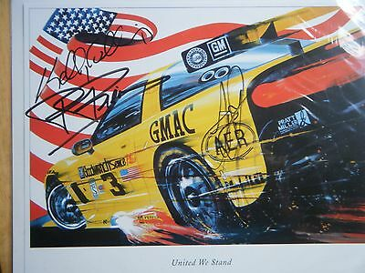 Corvette Racing  C5-R `united We Stand` Hero Card Signed By 3 Drivers Very Rare