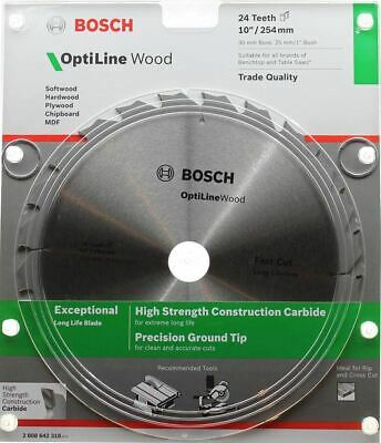 Bosch Optiline Wood Circular Saw Blade 254mm (10 Inch) 24 Teeth