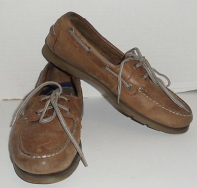 Sperry Top Siders Leeward Leather Boat Shoes - Brown - Men's Size 8.5