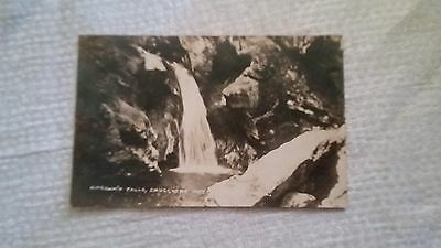 c1920's Bingham's Falls , Smugglers Notch Real Photo Postcard.