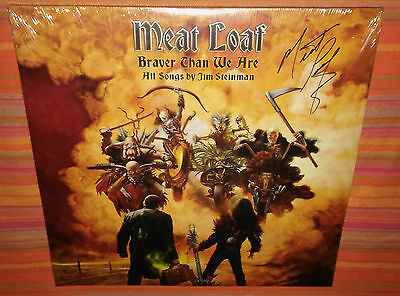 MEAT LOAF BRAVER THAN WE ARE 2 x LP EXCLUSIVE AUTOGRAPHED MADE IN USA 2016