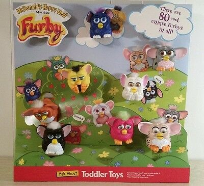 McDonalds Happy Meal Furby Advertising Restaurant Display Includes 8 Toys