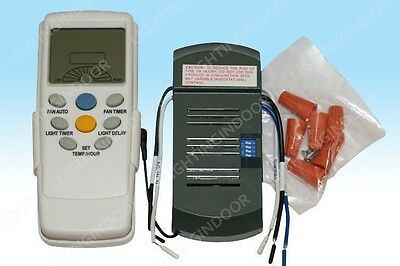 Universal Thermostatic Ceiling Fan and Light Remote  Control Kit