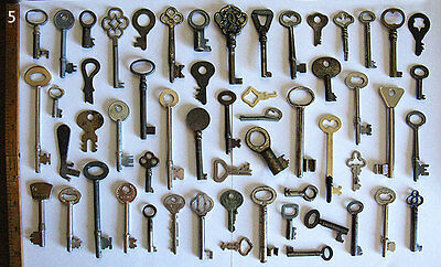 Skeleton Keys - Estate Lot Entire Collection As Seen - Antique Old Set Flat Rare