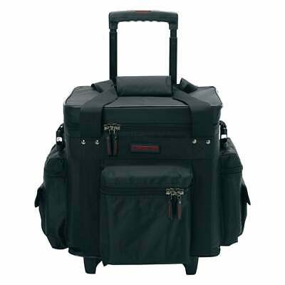 40540 MAGMA LP CASE Holds 100 LPs Trolley Black and Red DJ BAG 3 Extra Pockets