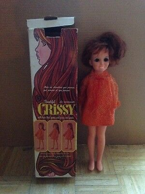1968 IDEAL Toy Crissy Doll - Used Condition- Works.