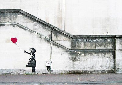Banksy Canvas Print Wall Art Red Balloon Girl Painting Repro Home Decor Framed
