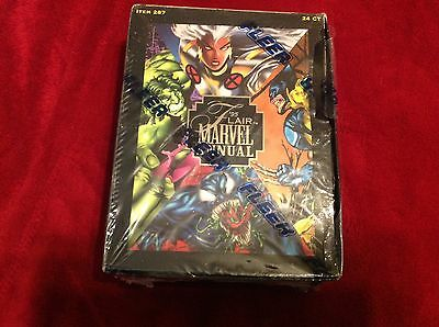 1995 Fleer Flair Marvel Annual Factory Sealed Trading Card Box 24 Packs