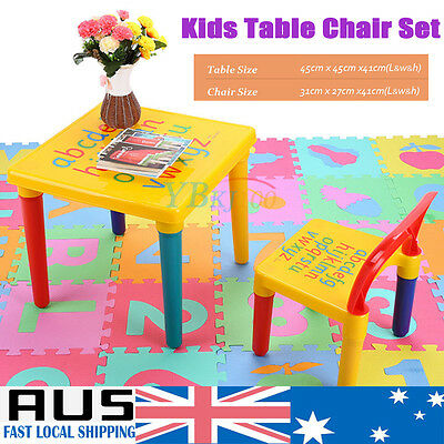 Children Kids Toddler Table and chair set plastic Square Activity Boys Girls