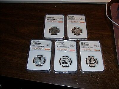 (Lot Of 5 ) Ngc/ana 2015 S Pf 69Uc Chicago Show Exact Coins Shown -Special-#5