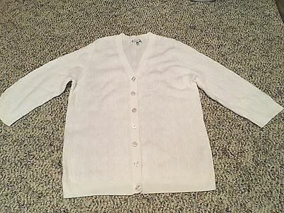 Croft & Barrow ladies size XL v-neck cardigan 3/4 sleeve sweater top