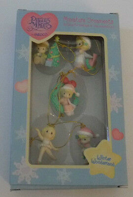 "New 1997 Precious Moments ""Winter Wonderland"" Miniature Christmas Ornaments"