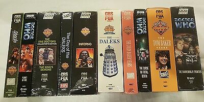 Lot 15 VHS Doctor Who tape collection Daleks