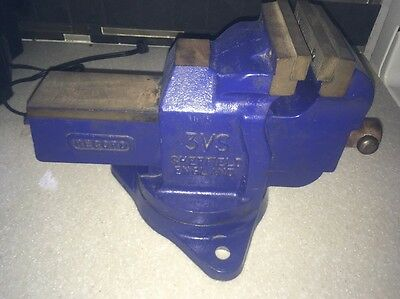 "Record 3VS Bench Vise 4"" Jaws MADE IN ENGLAND Heavy Duty Swivel Base  NICE!!"
