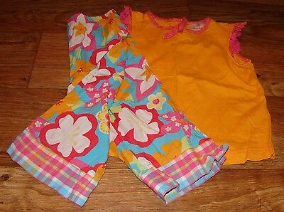 Hanna Andersson Toddler Girls Size 3 To 5 Adorable Floral Ruffled Set
