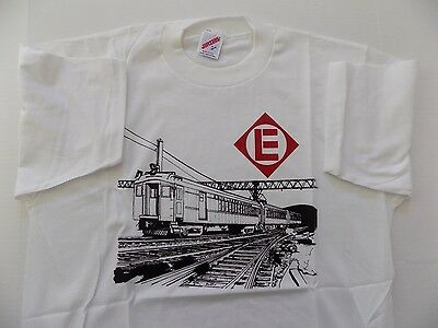 Erie Lackawanna Electrics Adult L T-Shirt Commuter Railroad Train NOS RARE
