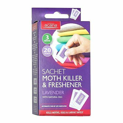 20x Carpet Moth Killer Trap & Freshener Sachets Lavender Repellent Control NEW